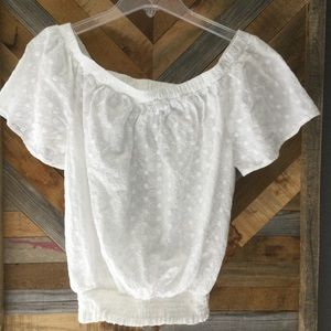 Cottage Core Cotton Eyelet Top